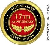 seventeenth anniversary gold... | Shutterstock .eps vector #467071436