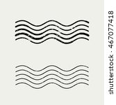 grunge wave stamp vector  ... | Shutterstock .eps vector #467077418