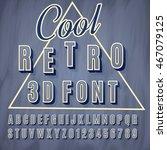 vector retro 3d font with... | Shutterstock .eps vector #467079125
