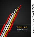 colored stripes with circles... | Shutterstock .eps vector #467082992