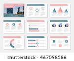 set of pink and blue template... | Shutterstock .eps vector #467098586