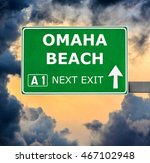 omaha beach road sign against... | Shutterstock . vector #467102948