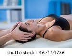 male physiotherapist giving... | Shutterstock . vector #467114786
