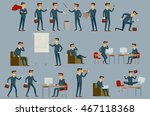 set of businessman icons... | Shutterstock .eps vector #467118368