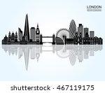 london detailed skyline. vector ... | Shutterstock .eps vector #467119175