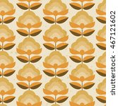 seamless vintage flower pattern | Shutterstock .eps vector #467121602