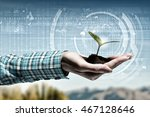 nature and technology... | Shutterstock . vector #467128646