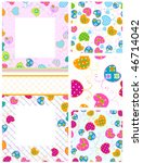 vector sweet butterflies... | Shutterstock .eps vector #46714042