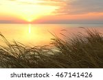 beautiful sunset at the black... | Shutterstock . vector #467141426
