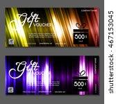 gift voucher. vector ... | Shutterstock .eps vector #467153045