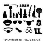 fetish sign. sex icons for bdsm.... | Shutterstock .eps vector #467155736