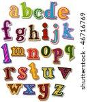 the alphabet   vector | Shutterstock .eps vector #46716769