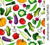 red sweet bell peppers ... | Shutterstock .eps vector #467169482