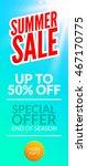 summer hot sale discount... | Shutterstock .eps vector #467170775