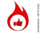 like and dislike button | Shutterstock .eps vector #467171162