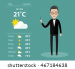 leading weather forecast.... | Shutterstock .eps vector #467184638