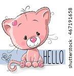 cute kitten isolated on a white ... | Shutterstock . vector #467191658