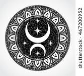 black white ornamental circle... | Shutterstock .eps vector #467200952