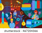 vector illustration of collage... | Shutterstock .eps vector #467204366