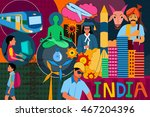 vector illustration of collage... | Shutterstock .eps vector #467204396