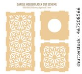 diy laser cutting vector scheme ... | Shutterstock .eps vector #467208566