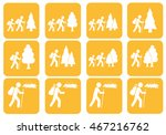 set of hiking icon illustration ... | Shutterstock .eps vector #467216762