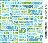 charity word cloud concept.... | Shutterstock .eps vector #467224172