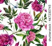 summer seamless watercolor... | Shutterstock . vector #467230745