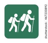 hiking icon illustration... | Shutterstock .eps vector #467233892