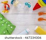 babies goods  cloth diaper ...   Shutterstock . vector #467234306