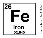 periodic table element iron | Shutterstock .eps vector #467238662