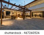 night scene of luxury villa... | Shutterstock . vector #467260526