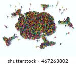 3d illustration of large... | Shutterstock . vector #467263802
