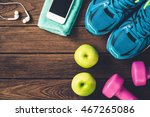 fitness  healthy and active... | Shutterstock . vector #467265086
