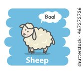 sheep vector illustration... | Shutterstock .eps vector #467272736