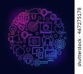 internet marketing colorful... | Shutterstock .eps vector #467275178