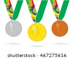 three brazil games medals with  ...   Shutterstock .eps vector #467275616