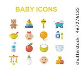 Baby Icons Set. Baby Toys ...