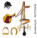 horse riding equipment hand... | Shutterstock .eps vector #467276246