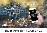 industrial 4.0 concept....   Shutterstock . vector #467283422