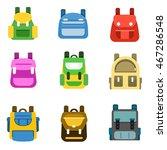 school backpack set. vector... | Shutterstock .eps vector #467286548