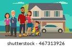 family. parents  grandparents... | Shutterstock .eps vector #467313926