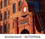 manufactory factory gate. lodz  ... | Shutterstock . vector #467329466