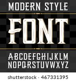 label font  modern style.... | Shutterstock . vector #467331395