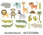 Cute Isolated Safari Animals...