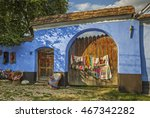 wooden gate of a traditional... | Shutterstock . vector #467342282