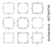 vintage square frames set... | Shutterstock . vector #467364746