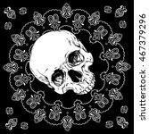 bandana black and white design... | Shutterstock .eps vector #467379296