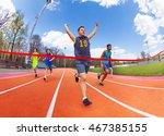 portrait of teenage sprinter...   Shutterstock . vector #467385155