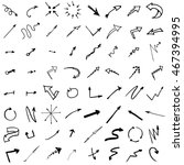 doodle ink  hand drawn pointers ... | Shutterstock .eps vector #467394995